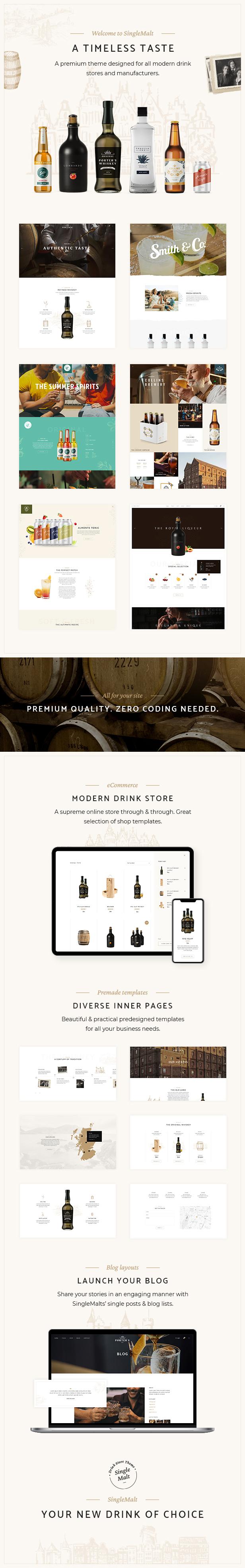 SingleMalt - Drink Store Theme - 2